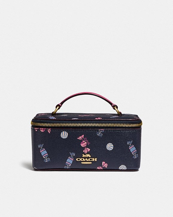 Coach VANITY CASE WITH SCATTERED CANDY PRINT