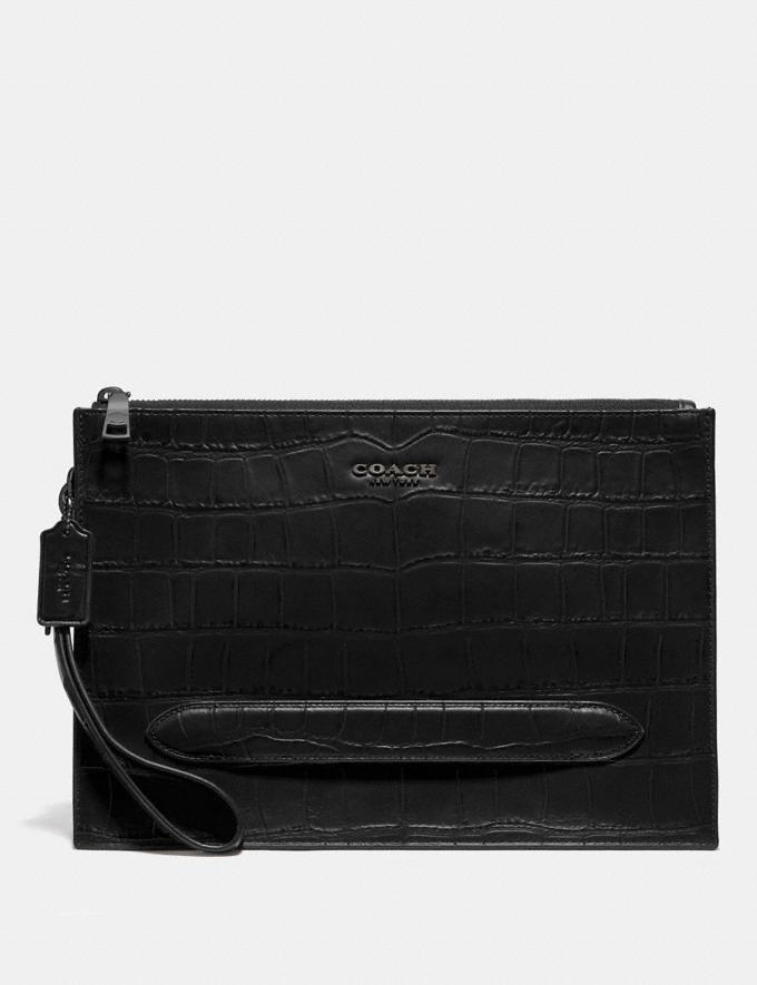 Coach Structured Pouch Black