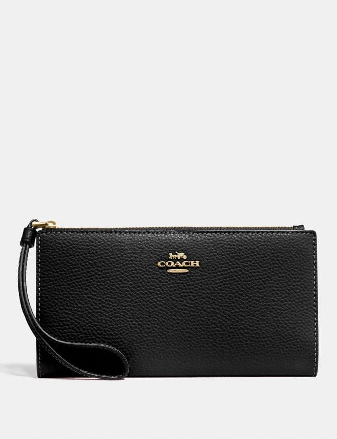 Coach Long Wallet Black/Imitation Gold