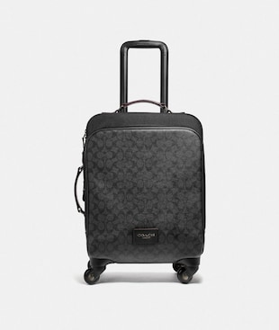 WHEELED CARRY ON IN SIGNATURE CANVAS
