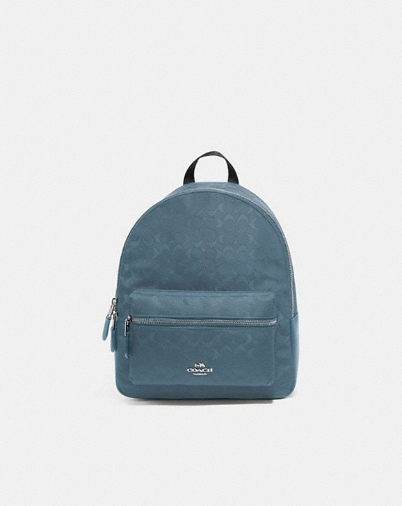Coach MEDIUM CHARLIE BACKPACK IN SIGNATURE NYLON