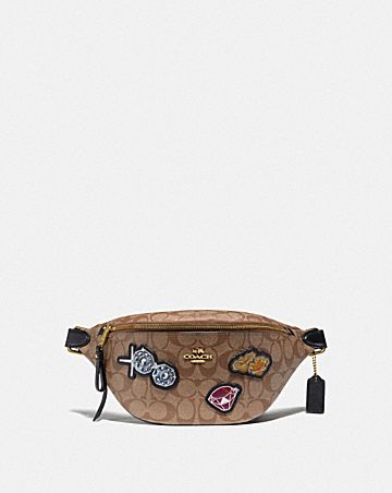 DISNEY X COACH BELT BAG IN SIGNATURE CANVAS WITH SNOW WHITE