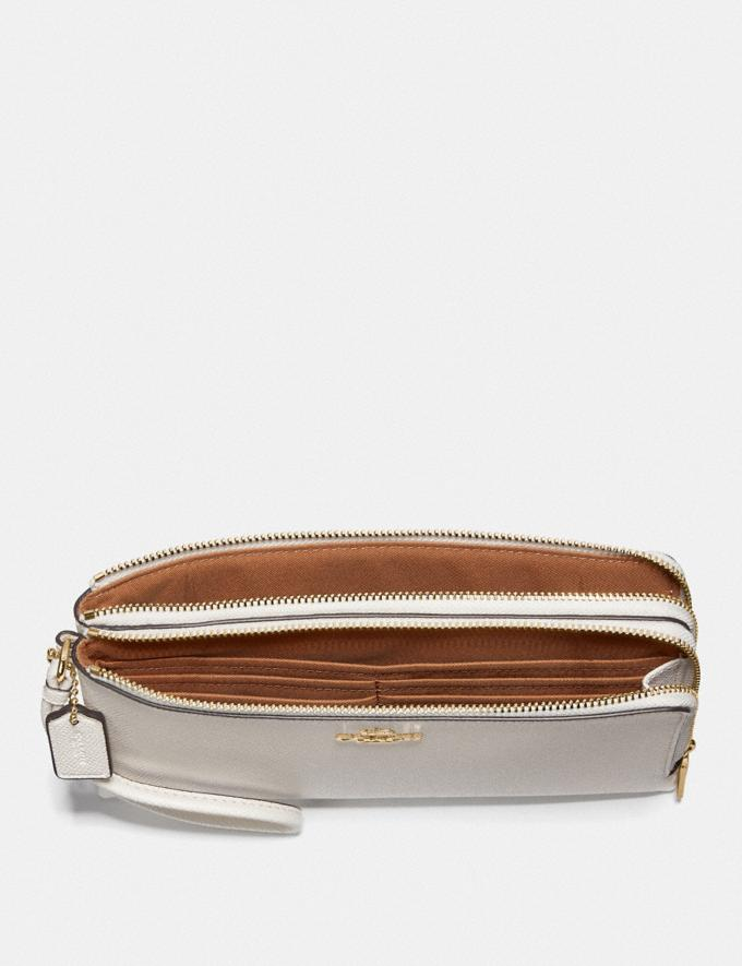 Coach Double Zip Wallet Chalk/Imitation Gold  Alternate View 1