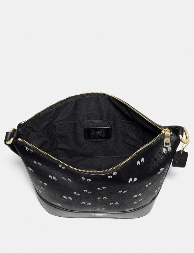 Coach Disney X Coach Paxton Duffle With Snow White and the Seven Dwarfs Eyes Print Black/Multi/Gold Explore Bags Bags Shoulder Bags Alternate View 1
