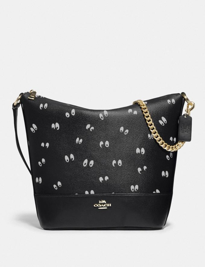Coach Disney X Coach Paxton Duffle With Snow White and the Seven Dwarfs Eyes Print Black/Multi/Gold Explore Bags Bags Shoulder Bags