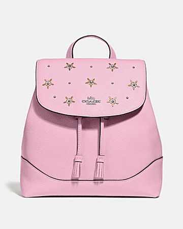 ELLE BACKPACK WITH ALLOVER STUDS