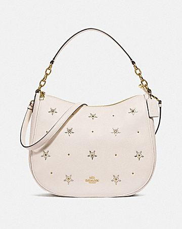 ELLE HOBO WITH ALLOVER STUDS