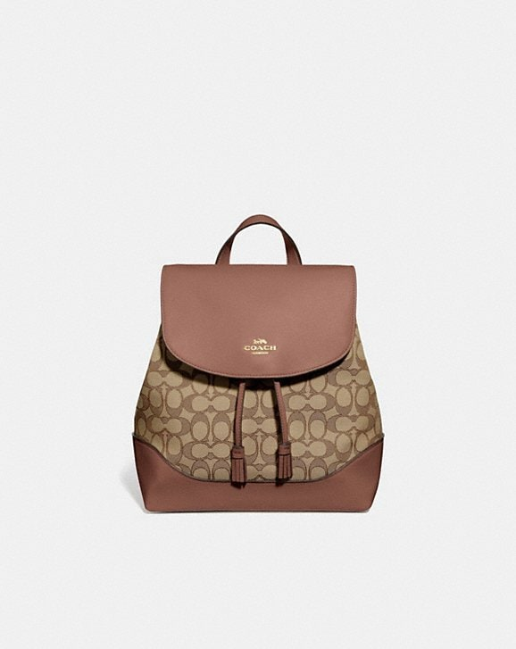Coach ELLE BACKPACK IN SIGNATURE JACQUARD