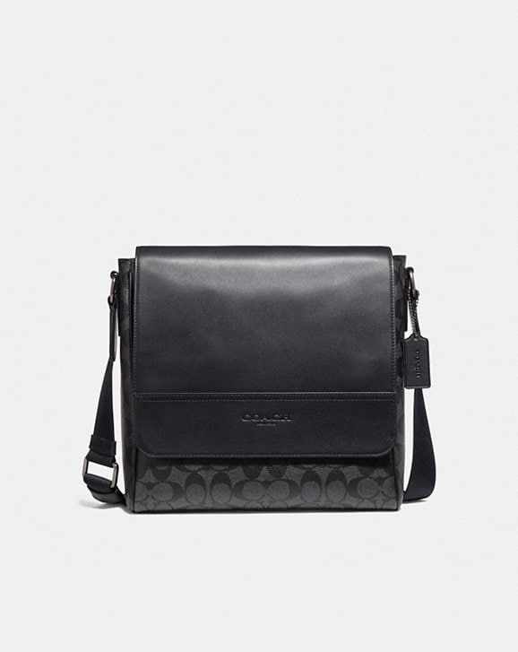 Coach HOUSTON MAP BAG IN SIGNATURE CANVAS