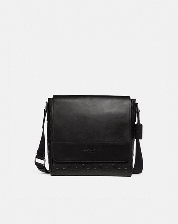 Coach HOUSTON MAP BAG IN SIGNATURE LEATHER