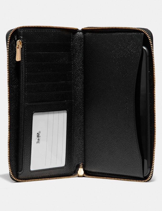 Coach Large Phone Wallet Black/Imitation Gold Women Business Essentials Alternate View 1