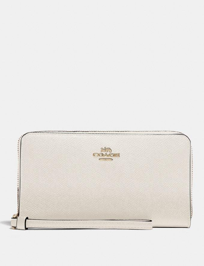 Coach Large Phone Wallet Chalk/Gold Accessories Wallets