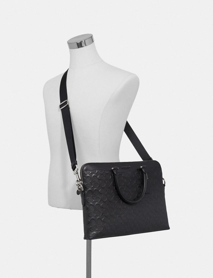Coach Beckett Portfolio Brief in Signature Leather Black/Nickel Explore Men Explore Men Bags Alternate View 2