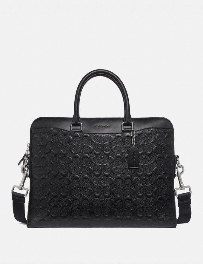 Coach Beckett Portfolio Brief in Signature Leather Black/Nickel Men Bags