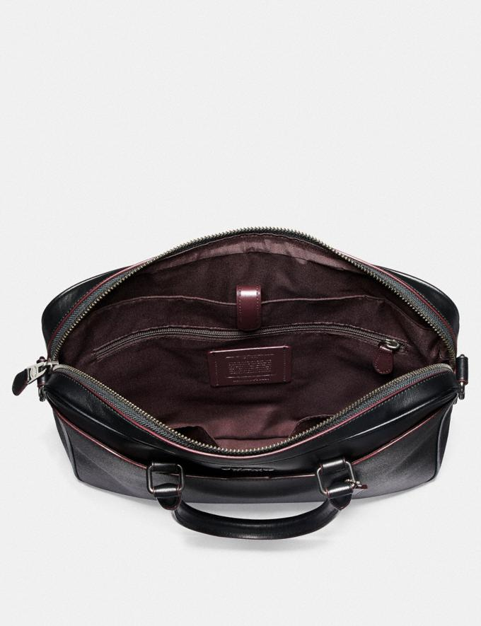 Coach Beckett Compact Brief in Signature Canvas Black/Black/Oxblood/Black Copper Finish Explore Men Explore Men Bags Alternate View 1