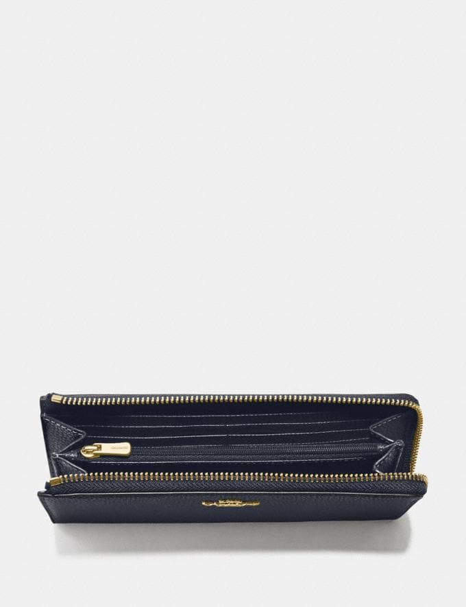 Coach L-Zip Wallet Midnight/Gold Explore Women Explore Women Wallets Alternate View 1