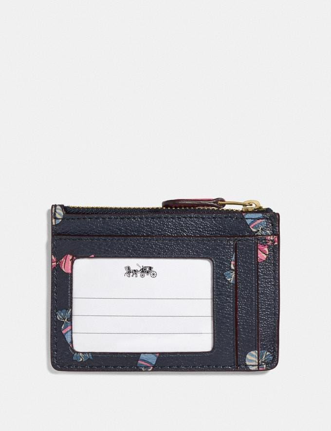 Coach Mini Skinny Id Case With Scattered Candy Print Navy/Multi/Pink Ruby/Gold Explore Women Explore Women Bag Charms & Accessories Alternate View 1