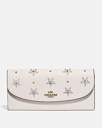 SLIM ENVELOPE WALLET WITH ALLOVER STUDS
