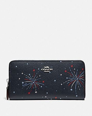 ACCORDION ZIP WALLET WITH FIREWORKS PRINT