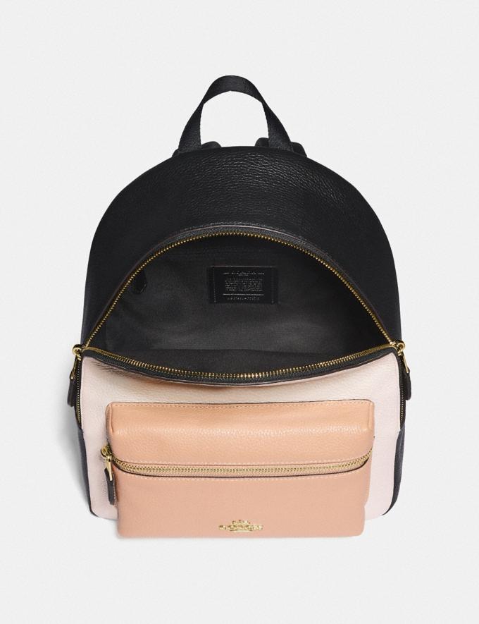 Coach Medium Charlie Backpack in Colorblock Chalk Explore Bags Bags Backpacks Alternate View 1