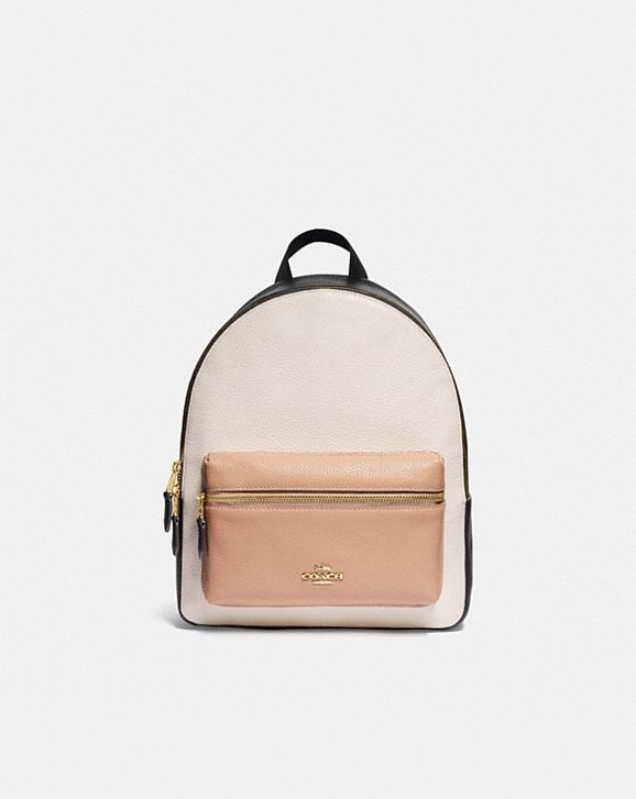 Coach MEDIUM CHARLIE BACKPACK IN COLORBLOCK