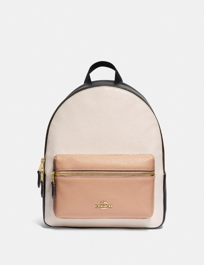 Coach Medium Charlie Backpack in Colorblock Chalk Explore Bags Bags Backpacks