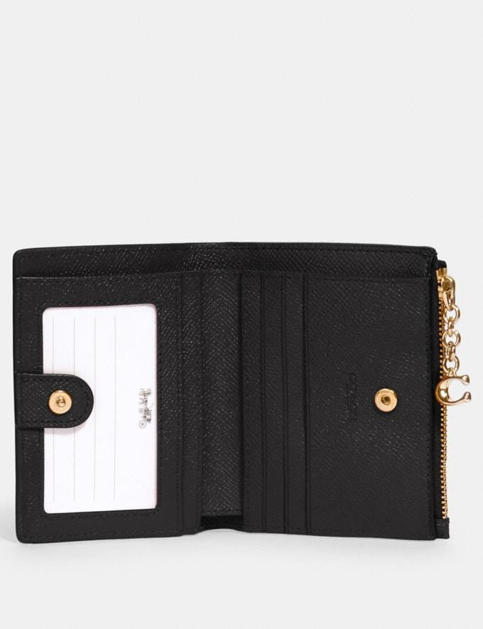Coach Snap Card Case Black/Gold Explore Women Explore Women Wallets Alternate View 1