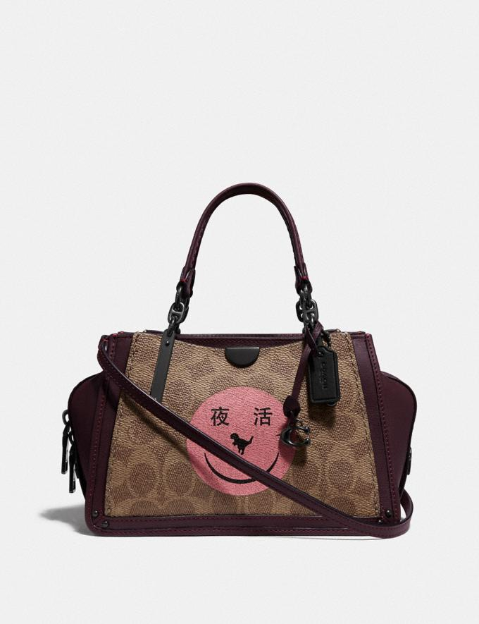 Coach Dreamer 21 in Signature Canvas With Rexy by Yeti Out V5/Tan Oxblood