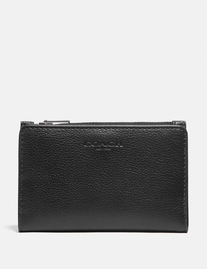 Coach Slim Billfold Card Wallet Black/Black Antique Nickel