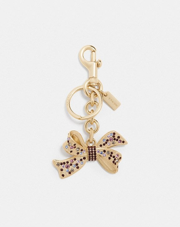 Coach JEWELED BOW BAG CHARM
