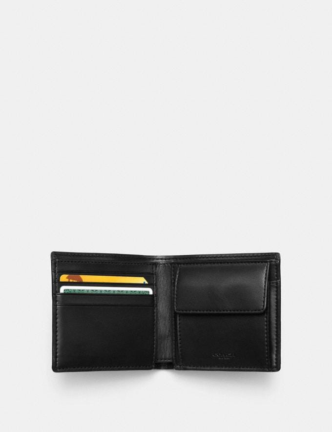 Coach Coin Wallet in Signature Canvas Charcoal/Black  Alternate View 1