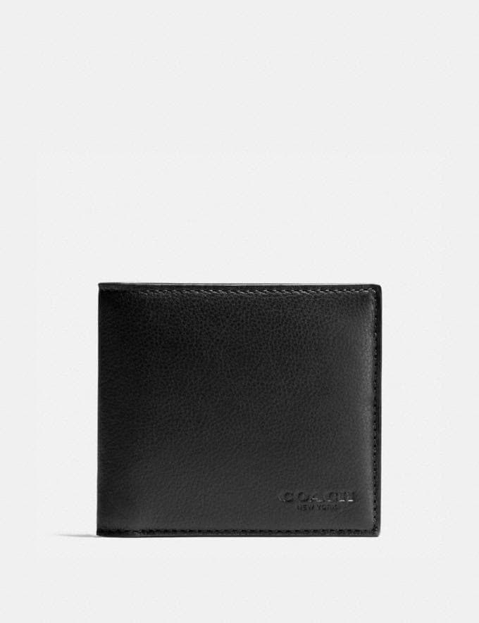 Coach Double Billfold Wallet Black