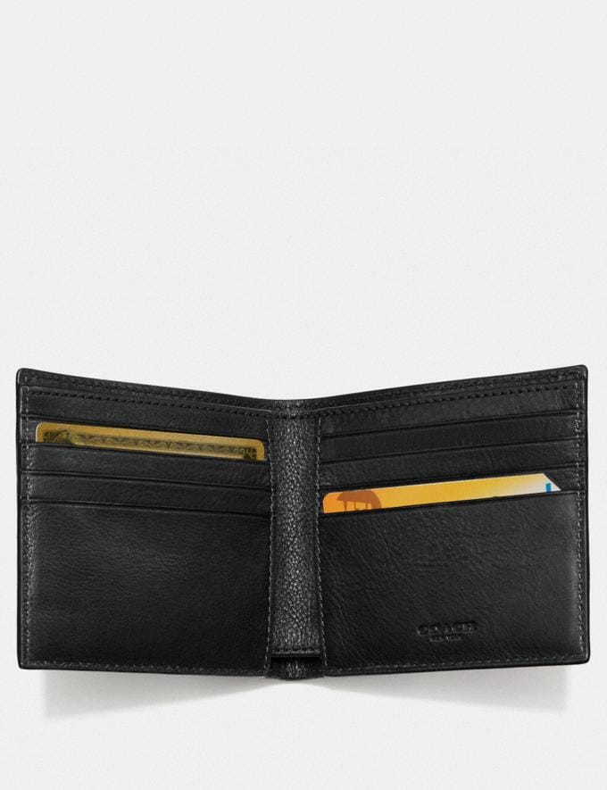 Coach Double Billfold Wallet Black DEFAULT_CATEGORY Alternate View 1