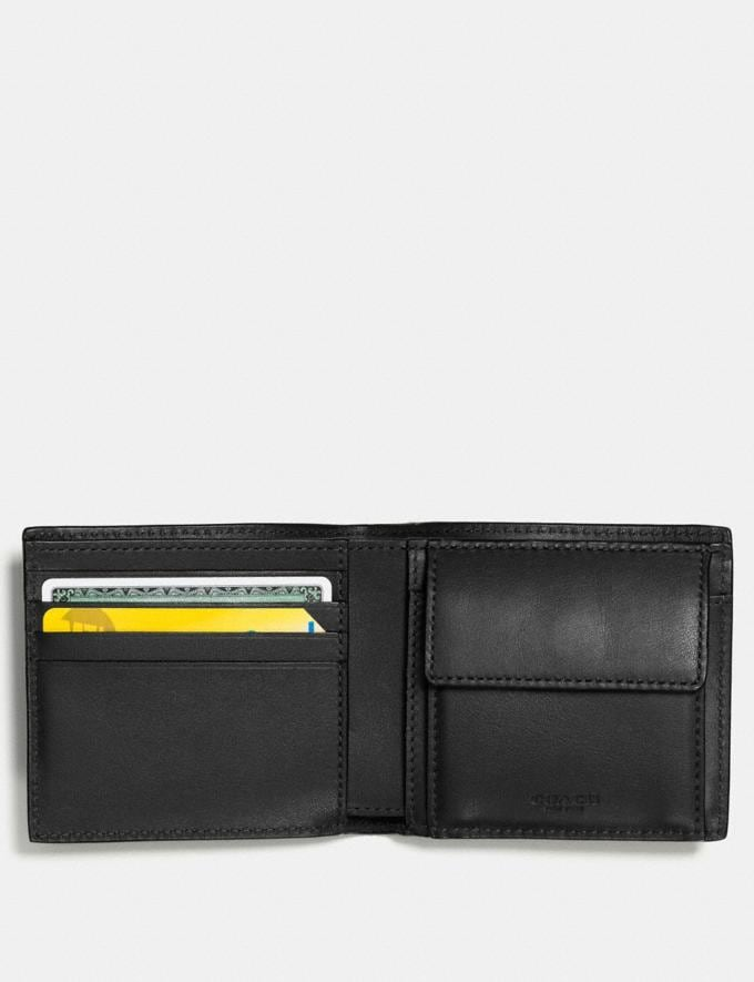Coach Coin Wallet in Signature Leather Black  Alternate View 1