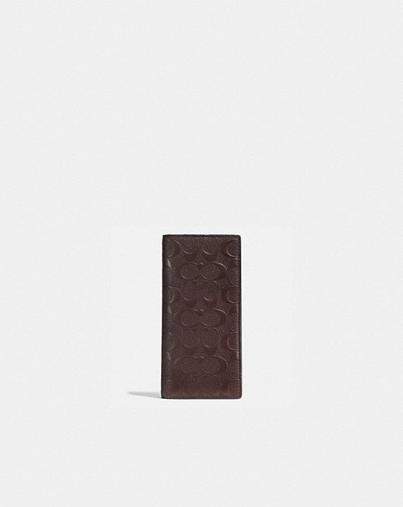 Coach BREAST POCKET WALLET IN SIGNATURE LEATHER
