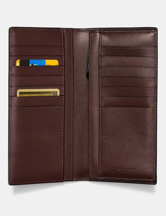 Coach Breast Pocket Wallet in Signature Leather Mahogany  Alternate View 1