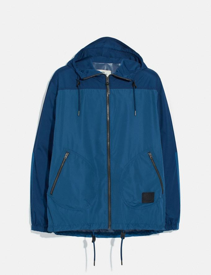 Coach Rain Reactive Windbreaker Cobalt
