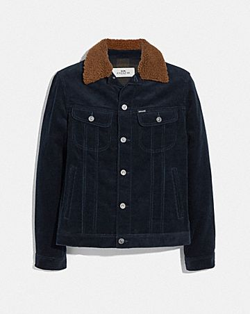 corduroy jacket with shearling collar