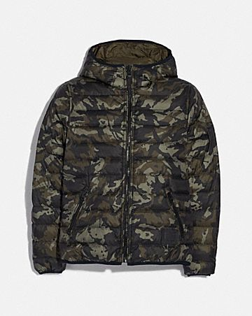 reversible down jacket with hood