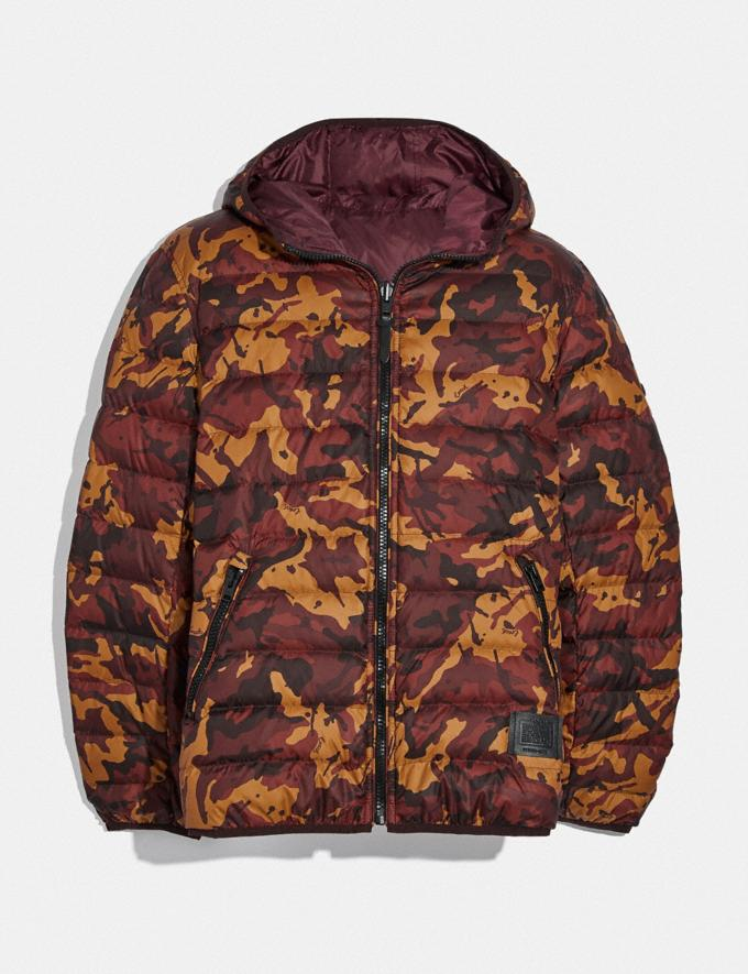 Coach Reversible Down Jacket With Hood Rcm/Mah