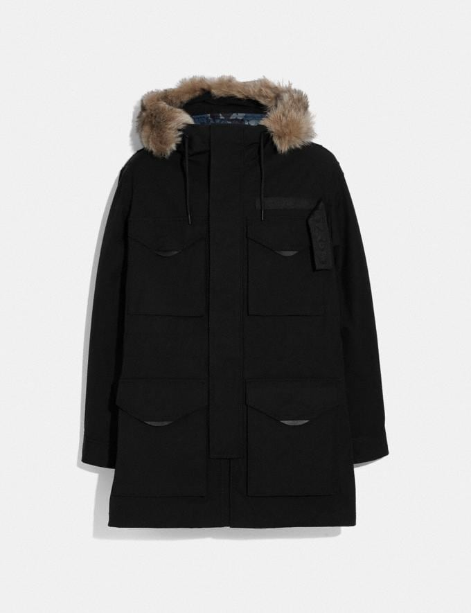 Coach 3-In-1 Parka With Shearling Black