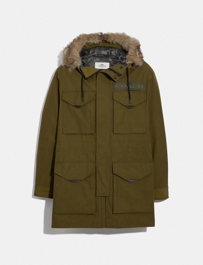 Coach 3-In-1 Parka With Shearling Olive
