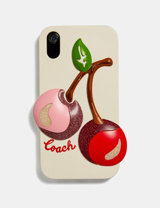 Coach iPhone Xr Case With Oversized Cherry Chalk Multi Clearance