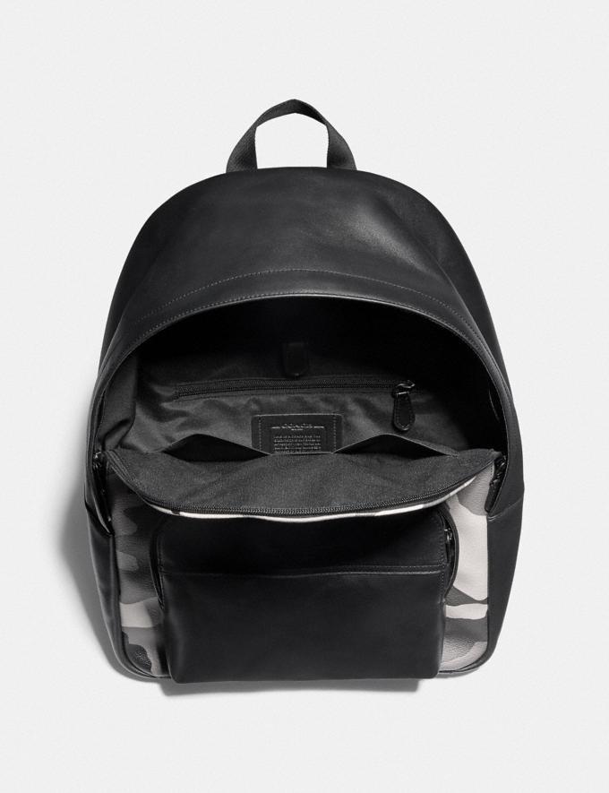 Coach Houston Backpack With Camo Print Black Antique Nickel/Black Multi Explore Men Explore Men New Arrivals Alternate View 1