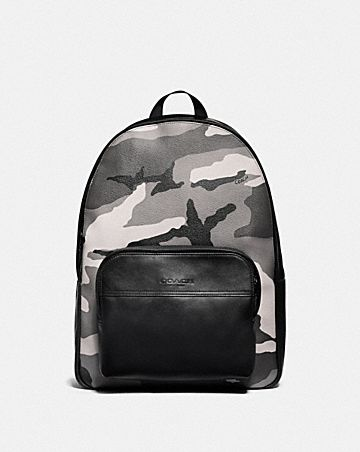 HOUSTON BACKPACK WITH CAMO PRINT