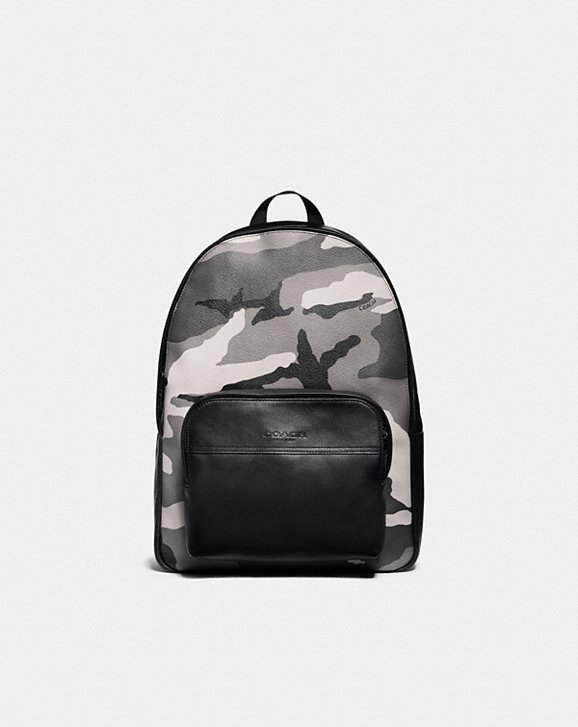 Coach HOUSTON BACKPACK WITH CAMO PRINT