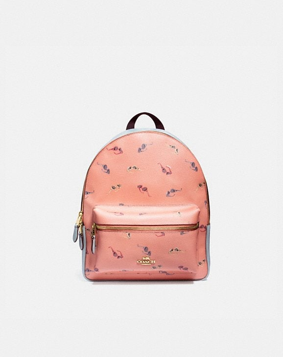 Coach MEDIUM CHARLIE BACKPACK WITH SUNGLASSES PRINT