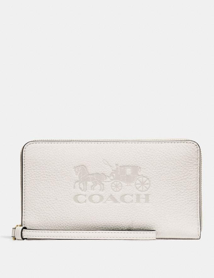 Coach Jes Large Phone Wallet Black/Gold