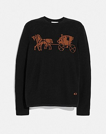 intarsia horse and carriage sweater