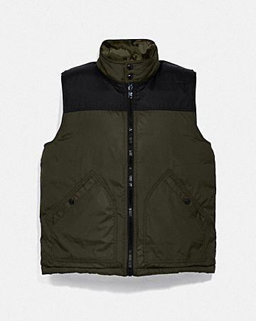 reversible down vest